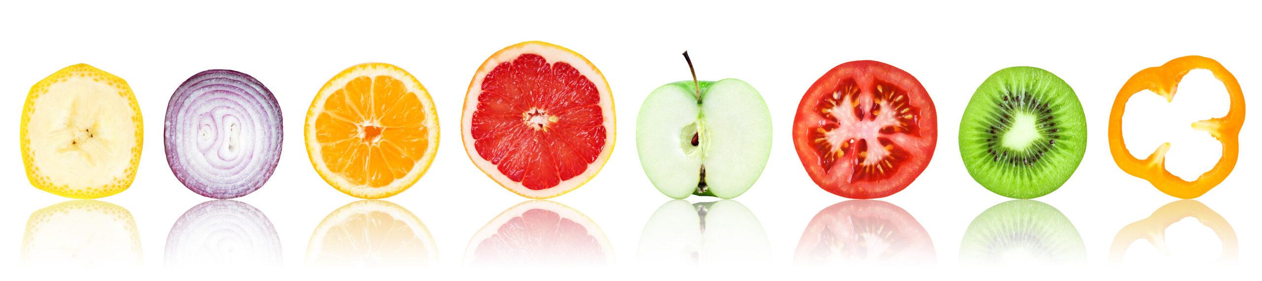 Früchte im Anschnitt