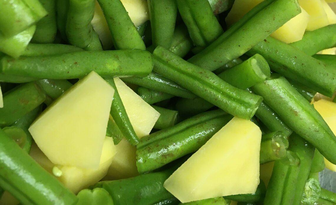 Kartoffeln und Bohnen
