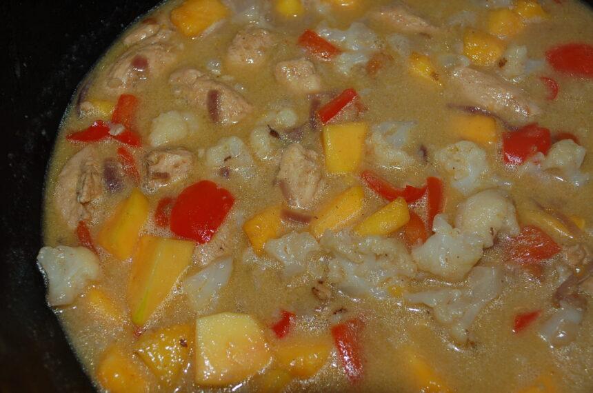 Hähnchen-Curry-Mit Papaya