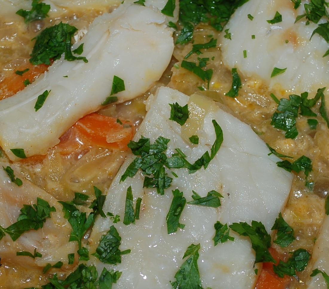 Stockfisch mit Gemüse