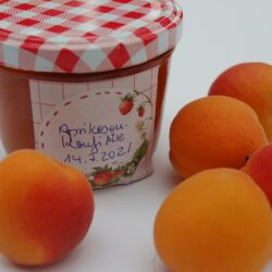 Aprikosen-Konfitüre mit Aprikosen