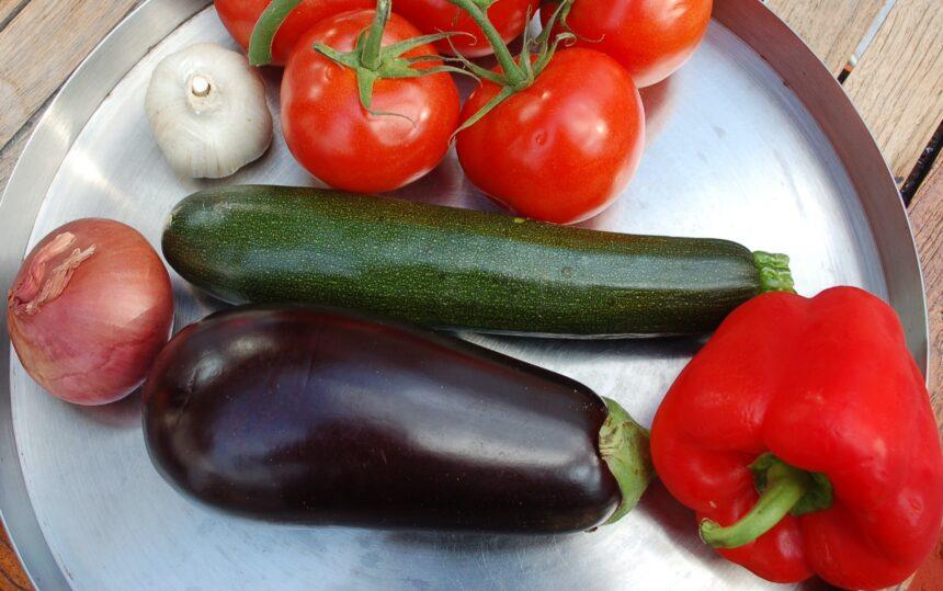Gemüse für Ratatoille