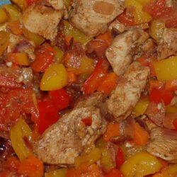 Hähnchengeschnetzeltes mit Paprika